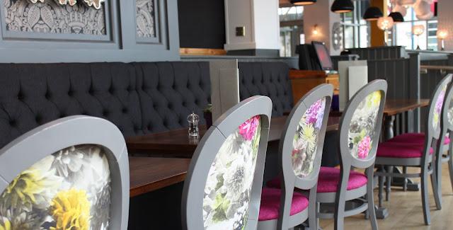 Slug and Lettuce Cardiff interior grey and pink glamorous