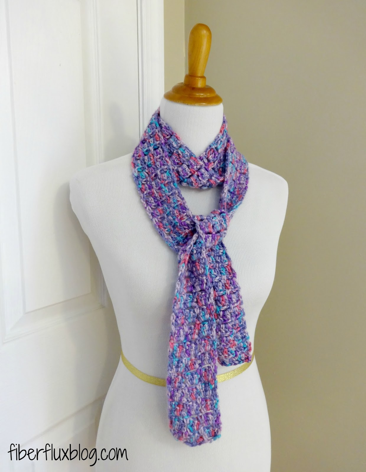 Free Crochet Patterns For Skinny Scarf : Fiber Flux: Free Crochet Pattern...Sugar Violet Skinny Scarf!