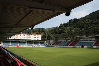 Estadio de Ipurua donde se enfrentarán el Eibar y Real Oviedo