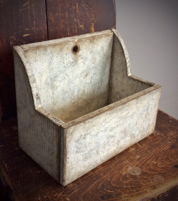 CUSTOM ORDER - Wall Box in Grungy White Paint