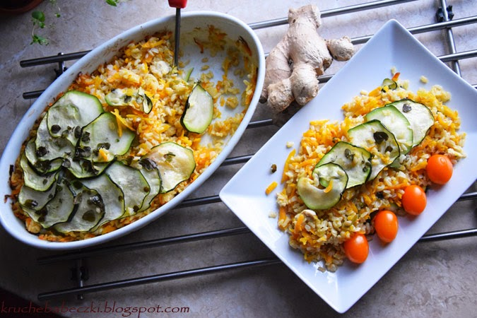 Imbirowo - marchewkowy ryż i kurczak