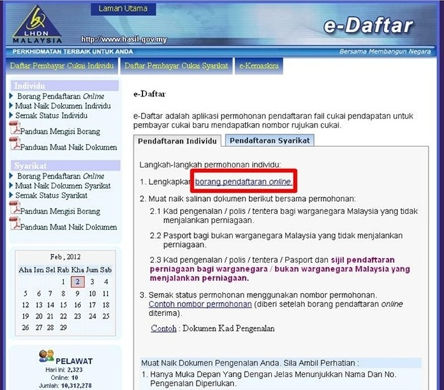 Luporti S Blog How To Register As Taxpayer Online E Daftar
