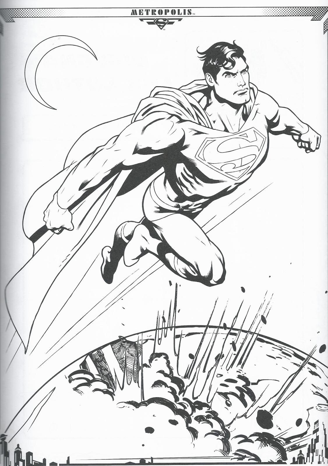 Disegni da colorare superman disegni da colorare for Disegni marini da stampare