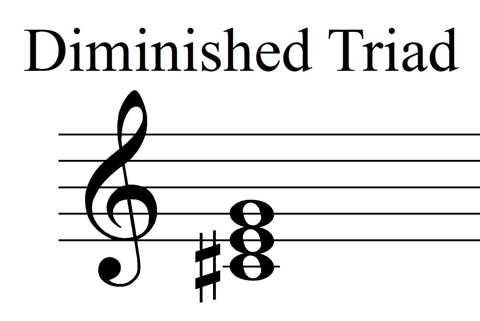 F Diminished Triad Bass Clef F Diminished Triad Bas...
