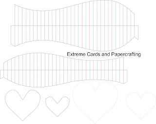 pleated heart template diagram