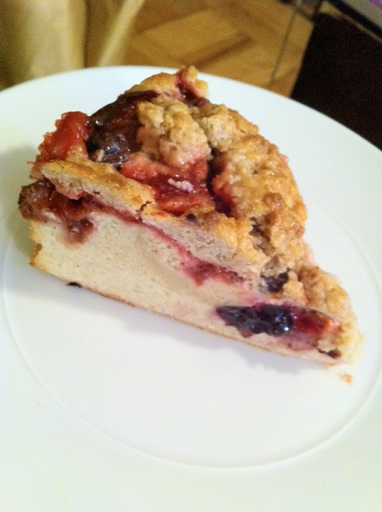 All From Scratch: Plum & Strawberry Cobbler Cake