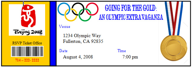 Invite and Delight Going for the Gold Olympic Extravaganza