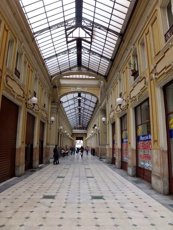 Turin Italie Via Garibaldi balade galleria umberto