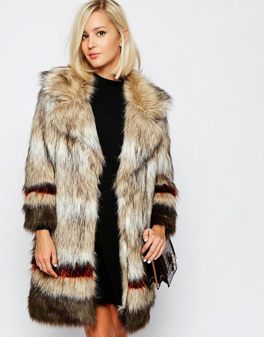 river island stripe fur coat, stripe furry coat, river island faux fur coat,