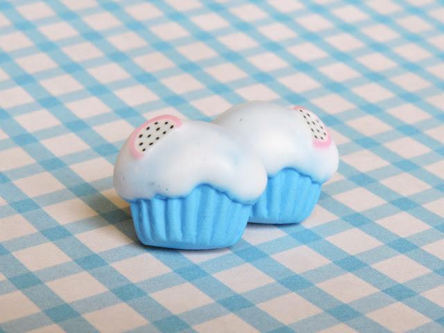 Mini muffinki na ucho – niebieskie