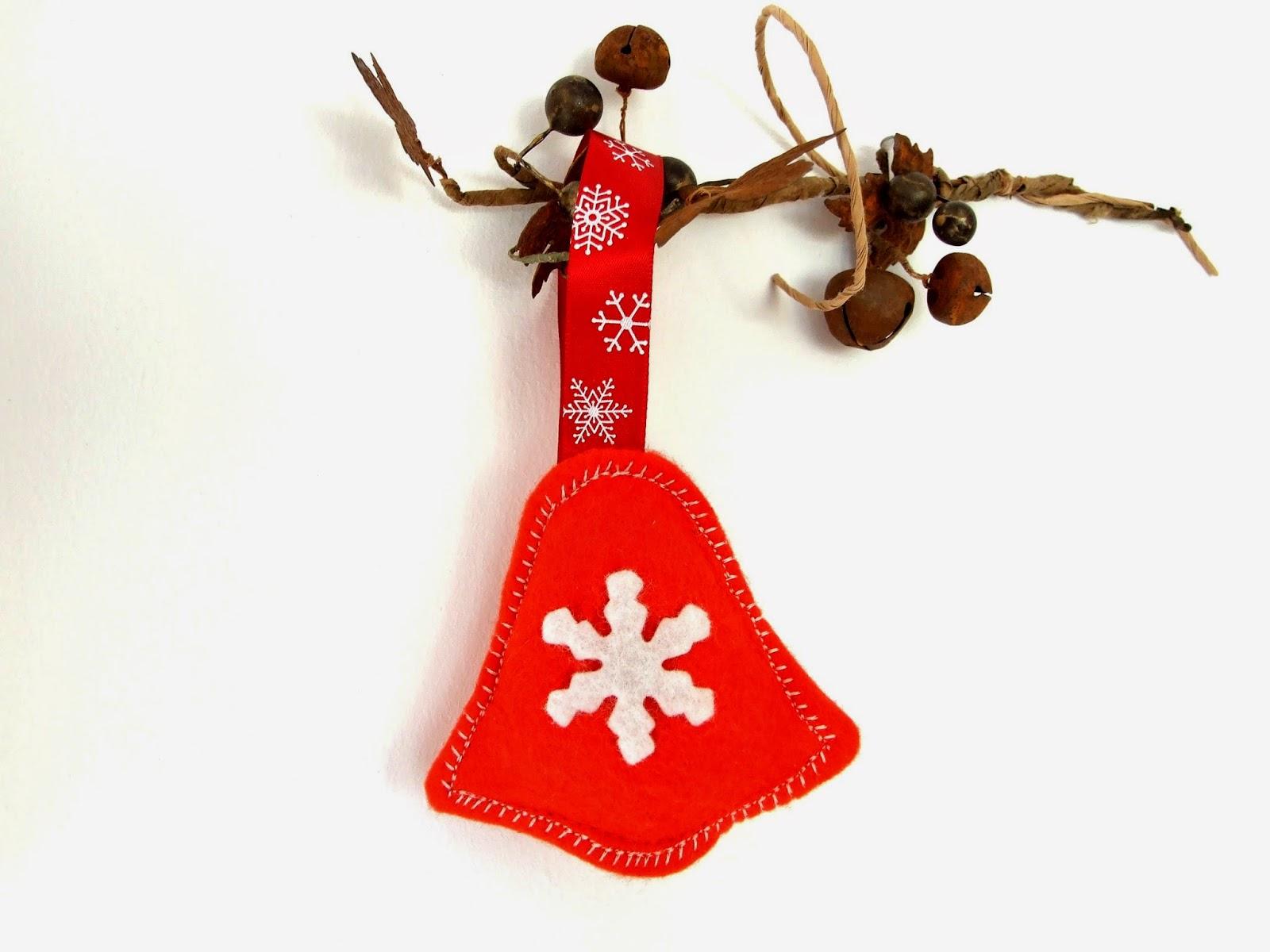 Ladybug felt holiday ornament handmade and fair trade fair trade