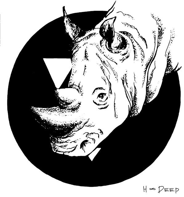 иллюстрация носорог