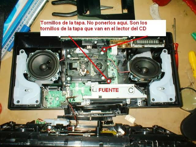 componente de audio panasonic sc-hc27 desarmado