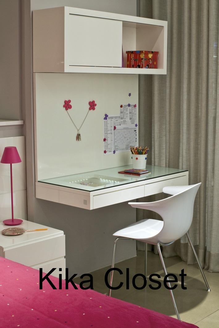Kika Closet Inspiração do dia Quarto Menina ~ Bancada De Vidro Para O Quarto