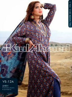 Gul Ahmed Linen Collection for Winter 2013