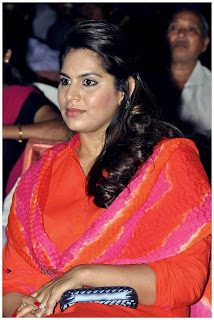 Upasana Kamineni Pictures in Red Salwar Kameez at Santoor Spoorthi Awards 2013 Function 0003