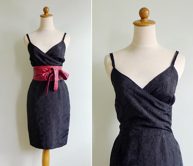vintage hourglass little black dress