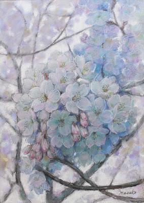 パステル画 桜