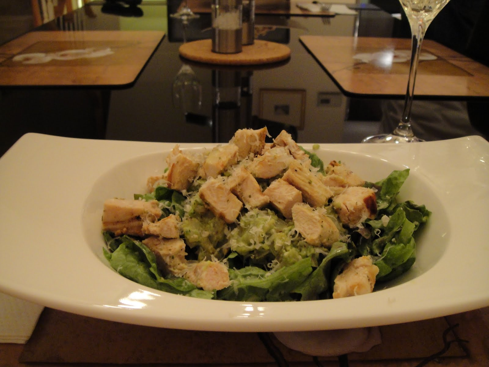 "The Kitchen Frog: Grilled Chicken Salad with ""Rustic"" Guacamole"
