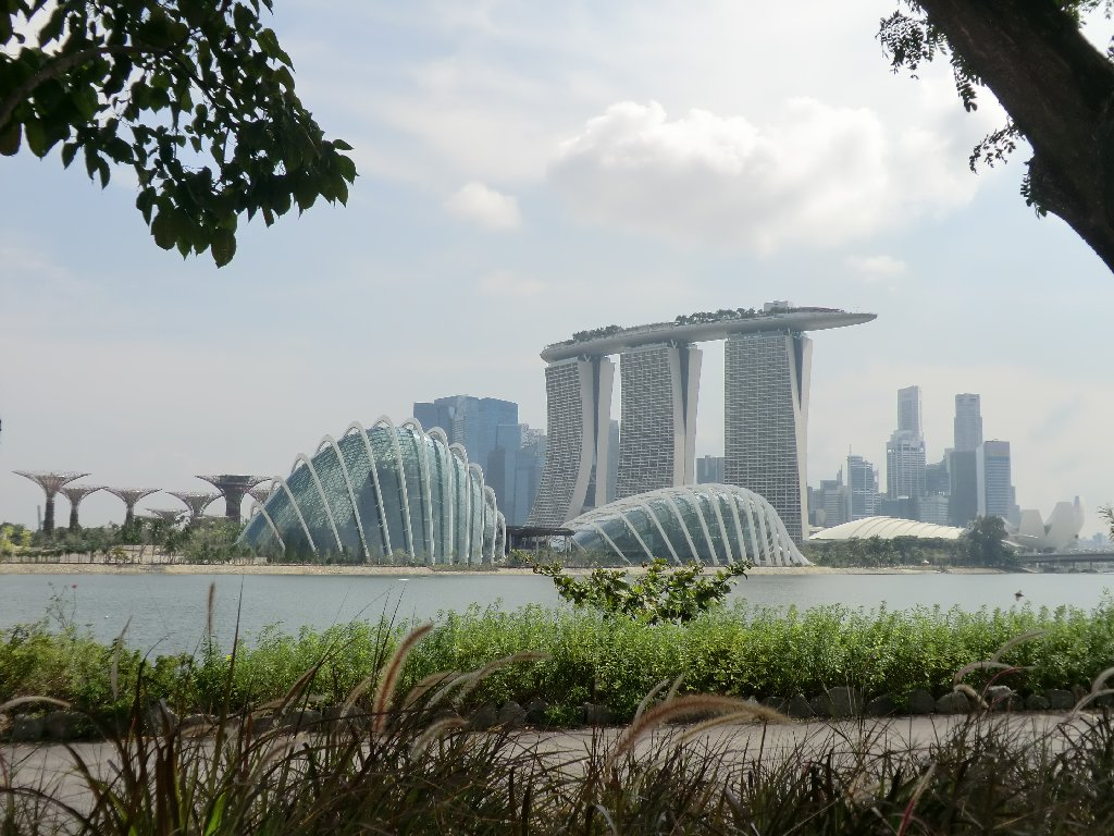 marina bay sands and garden domes from garden by the bay east - Garden By The Bay Marina Bay Sands