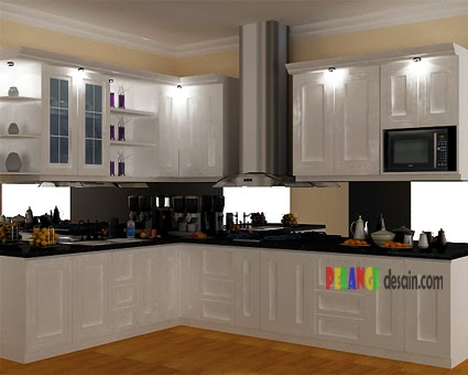 Kitchenset pelangi desain interior kitchen set klasik for Kitchen set hitam putih