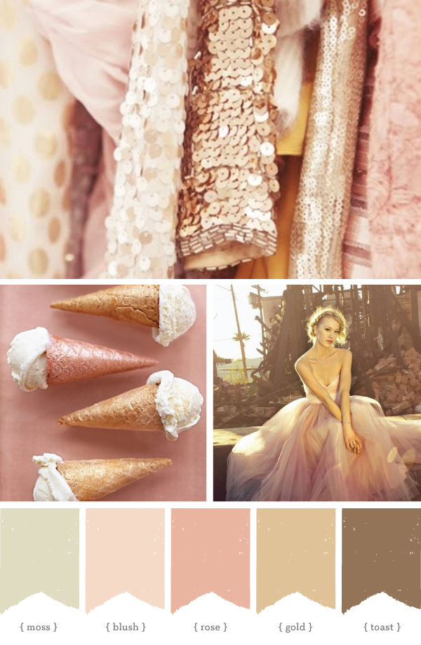 Rose Gold Color Palette Design Color Pinterest