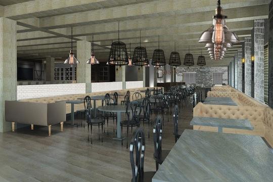 A rendering of Bastille Kitchen
