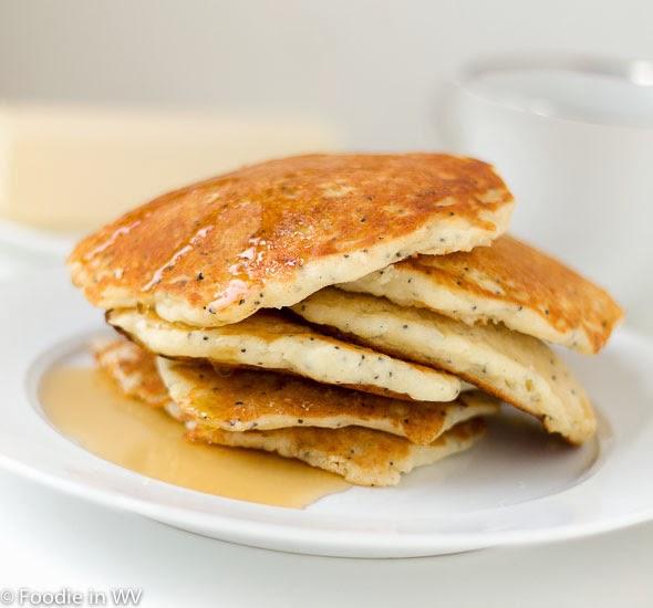 Gluten Free Lemon Poppy Seed Buttermilk Pancakes