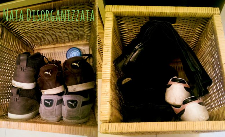 organizzazione scarpe
