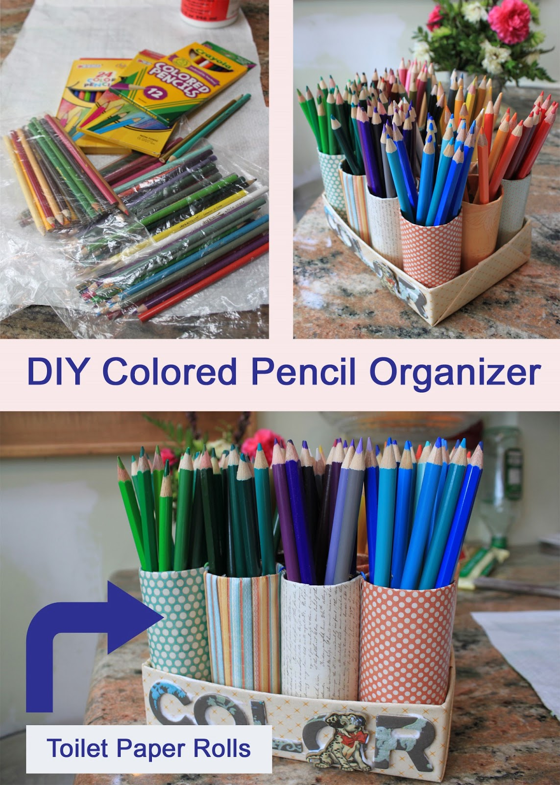 My great challenge diy colored pencil organizer for Diy colored paper