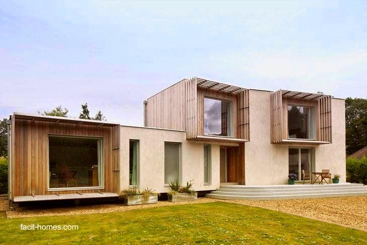 Casa residencial contemporánea construida en seco con D-Process