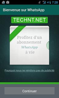 تطبيق واتساب أصبح مجاني مدى الحياة technt.net التقنية نت