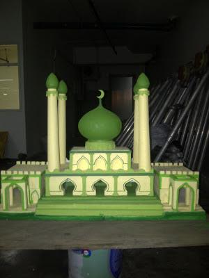 Dekorasi styrofoam miniatur masjid 3d for Dekorasi lebaran hotel
