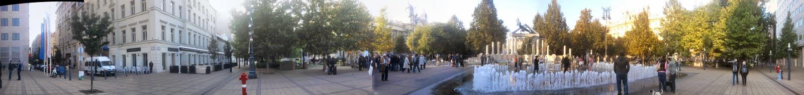 belváros, Német megszállási emlékmű, panoráma, Rogán Antal, V. kerület, Victims of German Occupation Memorial in Budapest