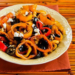 Recipe for Marinated Pepper Salad with Garbanzos, Olives, and Feta ...