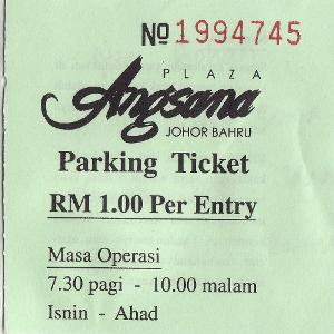 Parking Tiket LHDN