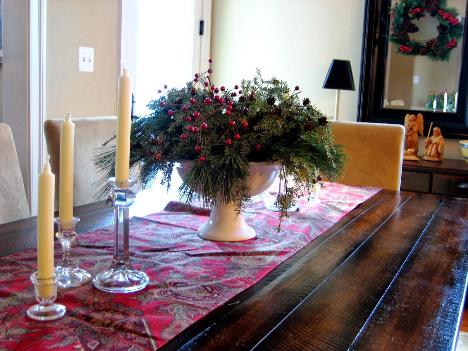 Salt marsh cottage natural christmas centerpieces tutorial