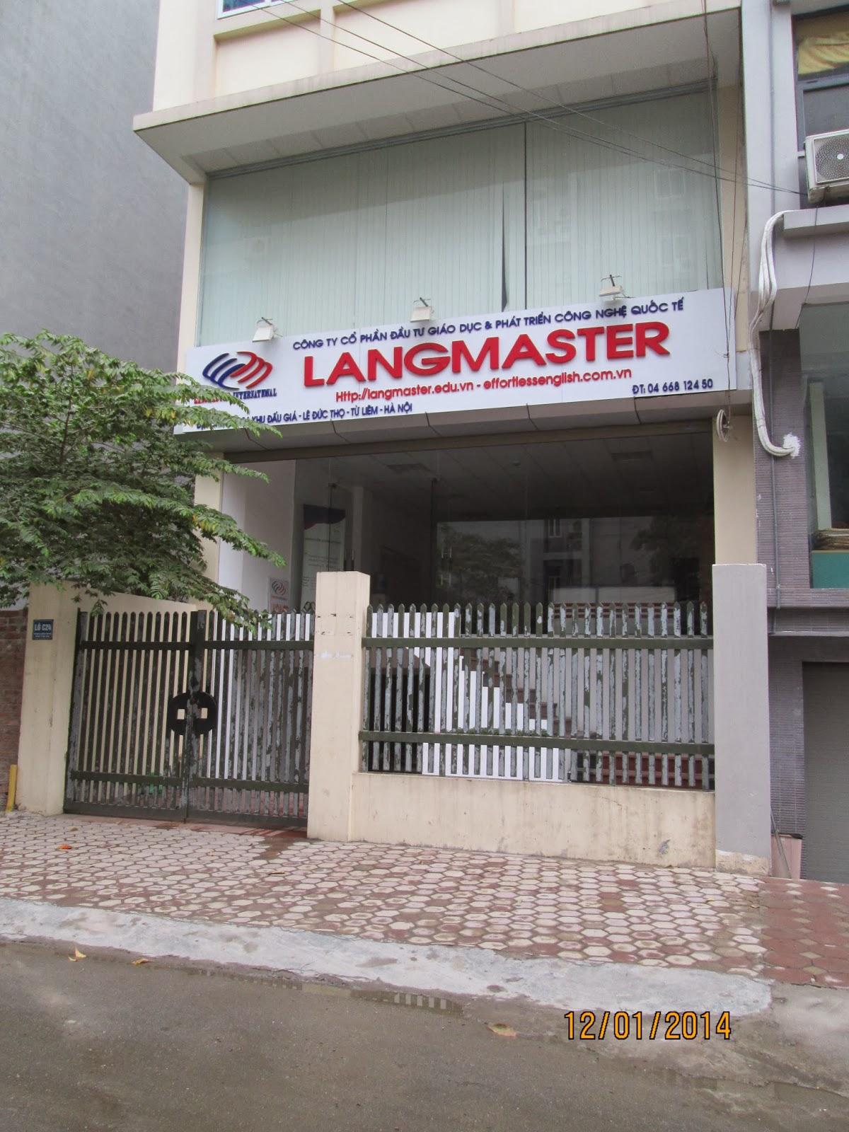 Câu lạc bộ tiếng Anh Langmaster