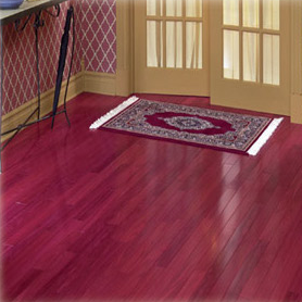 green certified purpleheart hardwood flooring