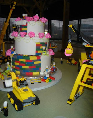 Charm City Cakes's Lego Construction Wedding Cake - Close-up of Cake