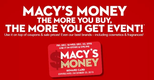 Macys Money Returns For December 2015 Spend Less Shop