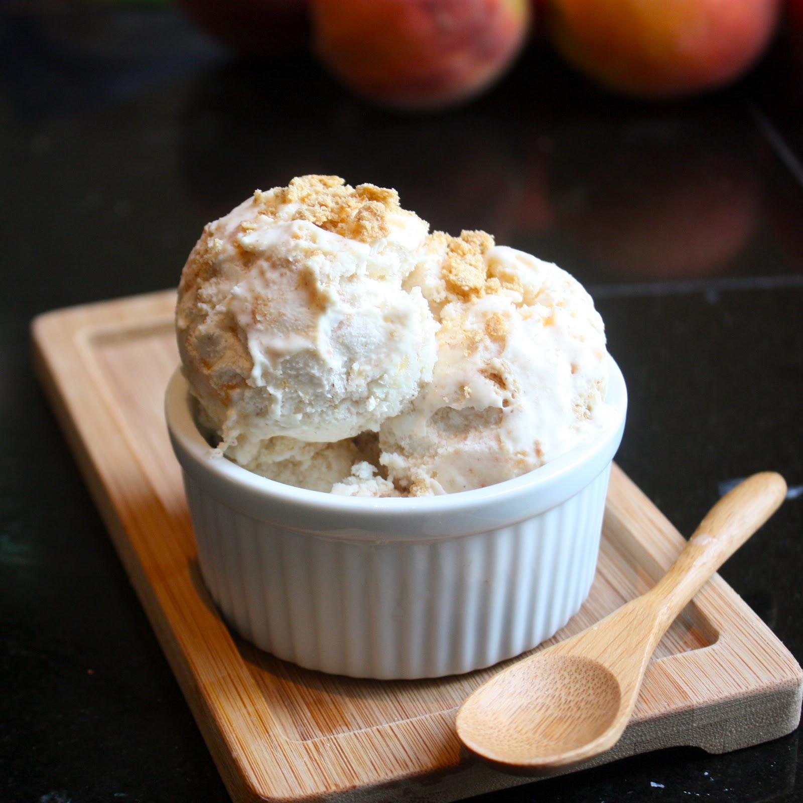 graham cracker crust vanilla peach graham cracker vanilla peach ...