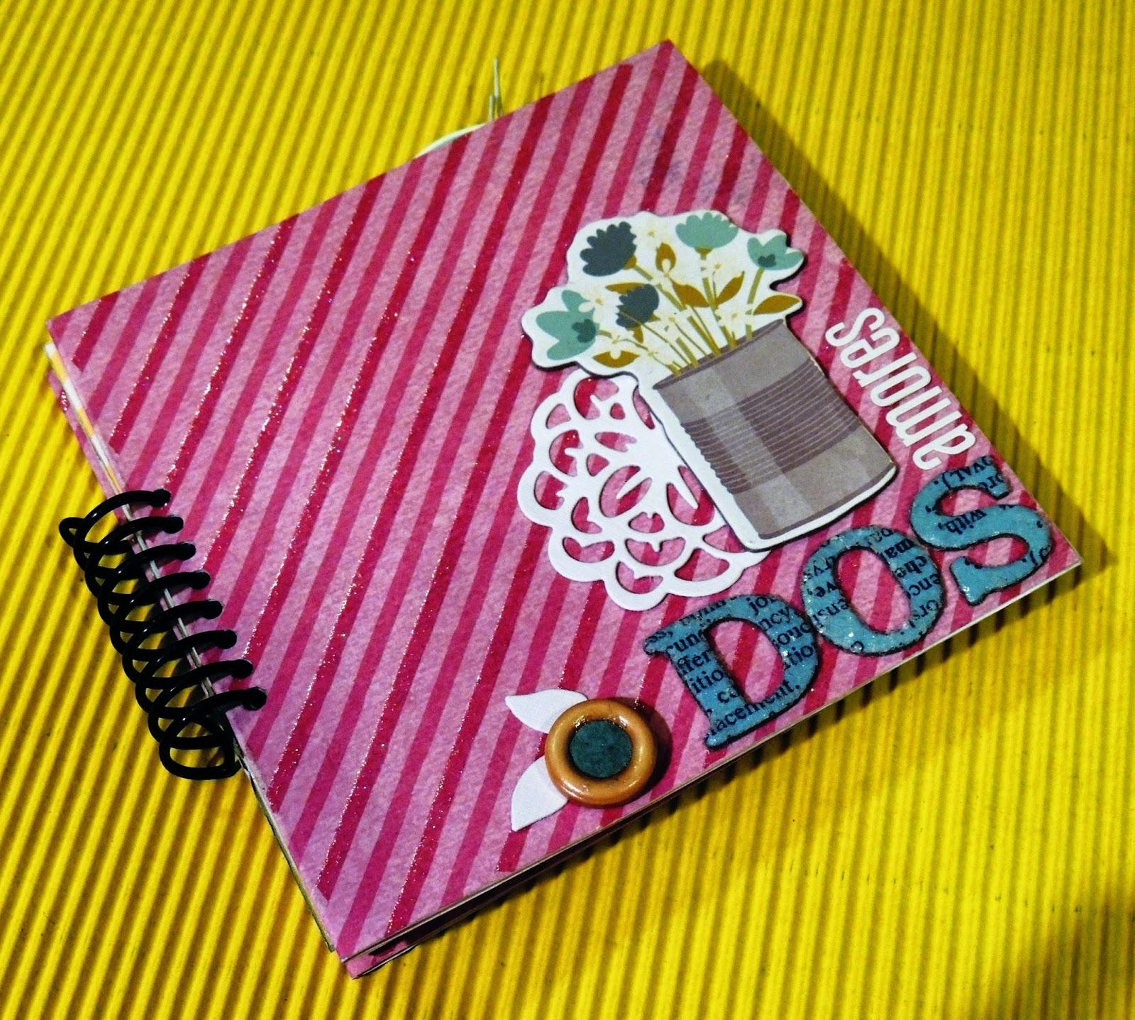 Sch tutorial mini lbum con anillado casero catalina ramirez - Manualidades album de fotos casero ...