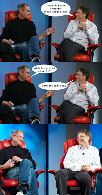 Steve Jobs and Bill Gates on bank loan