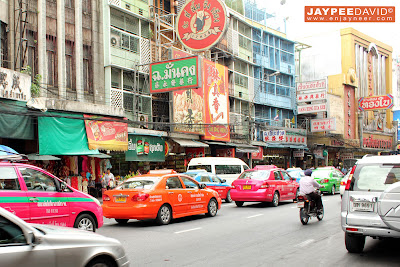 Bangkok, Thailand, BKK, China Town, colorful taxi cab