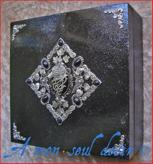 Boite Coffret à Bijoux Loup Le Trône de Fer l'Hiver vient Stark of Winterfell Game of Thrones Black Wolf Jewelry Box Case Winter is coming