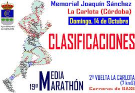 CLASIFICACIONES Memorial Joaquín Sánchez 2012