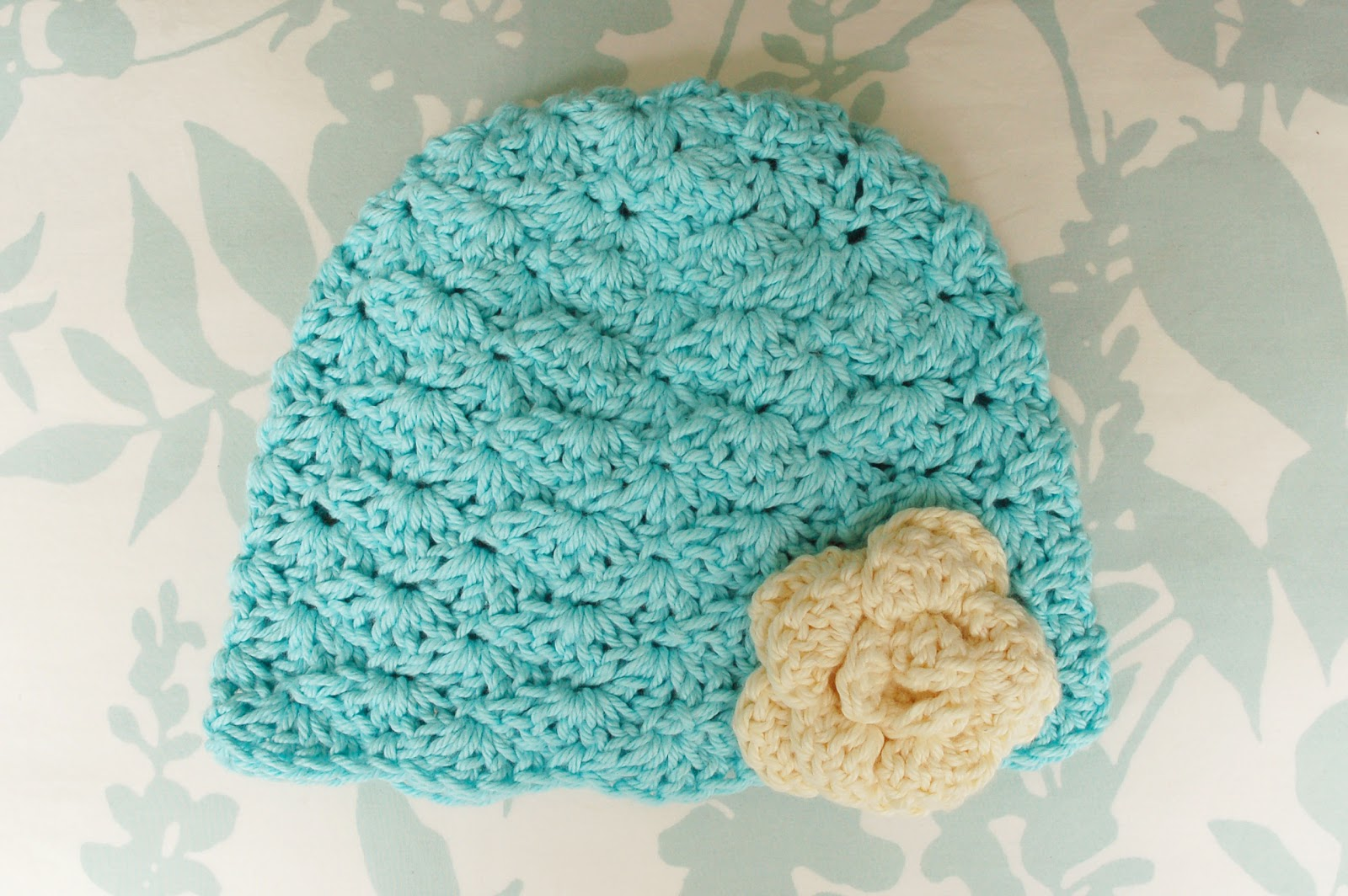 free crochet baby shell hat pattern