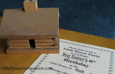Little House party invitation