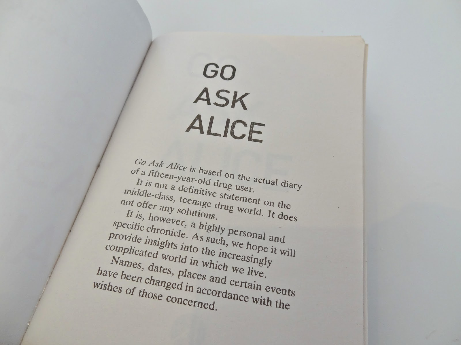 go ask alice essay